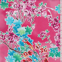 Coral Red Floral Swimwear - 34094 - Fabric By The Yard At Discount Prices