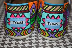 Custom Tribal Print Toms Partial by Chelmarca on Etsy,