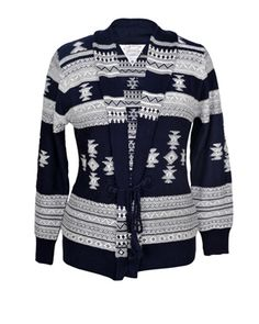 Intarsia Navajo Cardigan With Crochet Tie  Buy from here http://www.rageonline.co.in/52_93_cardigans_intarsia-navajo-cardigan-with-crochet-tie