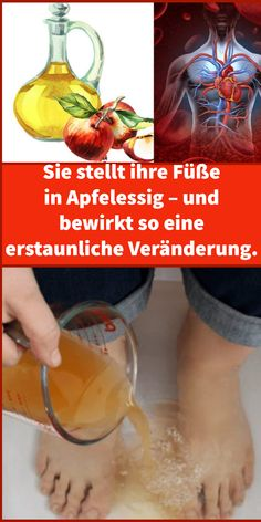She puts her feet in apple cider vinegar – causing an amazing change. - All About Health Gut Health, Health Fitness, Water For Health, Healthy Vegan Breakfast, The Last Meal, Nutritional Requirements, Easy Detox, Anti Inflammatory Diet, Healthier You