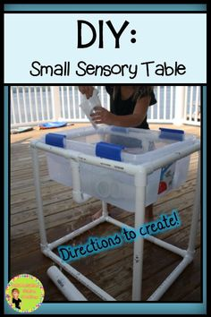 DIY: Small Sensory Table. Directions to create.