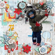 Layout using {Magical Winter} Digital Scrapbook Kit by Red Ivy Design available at Sweet Shoppe Designs http://www.sweetshoppedesigns.com/sweetshoppe/product.php?productid=35364&cat=&page=1 #redivydesign