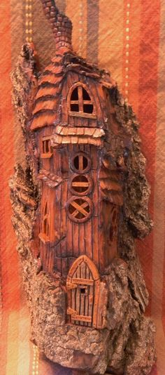 Cottonwood Bark - Church door house - carved by Norm Minske