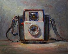 """Brownie Starlet Camera (the larger)"" - Original Fine Art for Sale - © Raymond Logan"