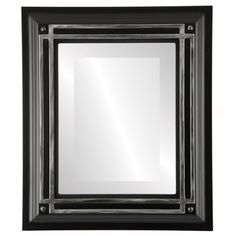 The Oval and Round Mirror Store - Imperial Framed Rectangle Mirror in Matte Black with Silver, - Wall Mirrors Round Mirrors, Framed Mirrors, Custom Mirrors, Wood Source, Thing 1, Mdf Frame, Beveled Mirror, Floor Mirror, Black Mirror