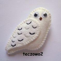 Owl - felt brooch