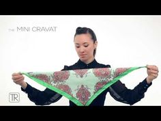 How to wear little neck scarf - Tie Rack Edition - YouTube