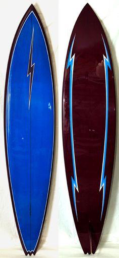 Lightning Bolt Surfboard  Shaped by: Barry Kanaiaupuni