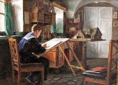Великий князь Михаил Александрович в классной комнате
