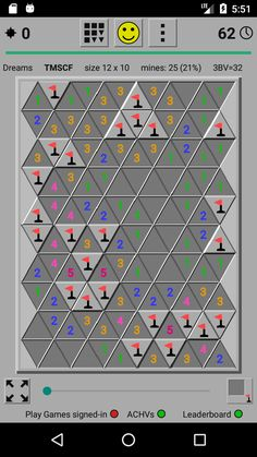 Minesweeper Dreams with triangle tiles option for challenging game-play Game App, Google Play, Games To Play, Tiles, Triangle, Map, Dreams, Creative, Wall Tiles