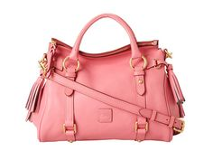 Dooney & Bourke Florentine Small Satchel Baby Pink With Self Trim - 6pm.com