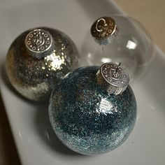 glitter ornaments that will not leave traces of glitter!