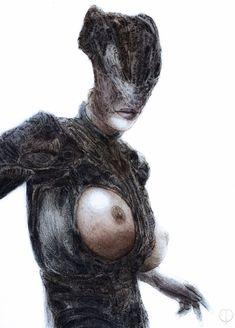 Macabre Art, Gothic Art, Dark Beauty, Sci Fi Art, Horror Art, Occult, Dark Art, Witchcraft, Painting & Drawing