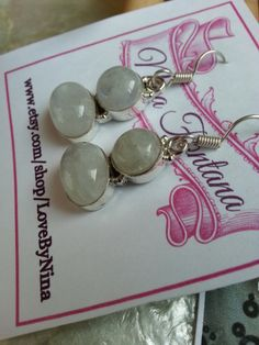 Beautiful Rainbow Moonstone Gemstone Sterling Silver by LoveByNina