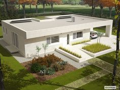 Projekt domu EX 6 (z wiatą) ENERGO PLUS
