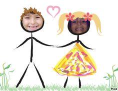 Resultado da fotomontagem : Desenho de criança Casal apaixonado - Pixiz