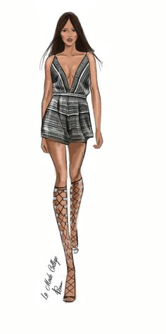 Fashion Illustration of Fashion Design Label- Bec and Bridge- for Mercedes Benz Fashion Week- Australia 2015. #fashionweek #fashionsketch #fashionillustration For the latest Fast Track Fashion Design Courses- visit: http://www.lamodecollege.com