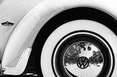 1962 Volkswagen Vw Beetle Cabriolet Wheel Emblem Photograph by Jill Reger