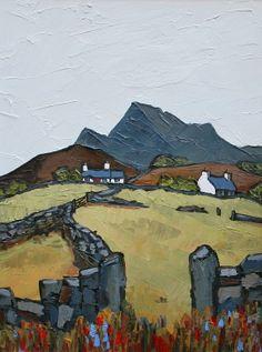 İngiliz Sanatı David BARNES - Yukarıdaki Llysfaen