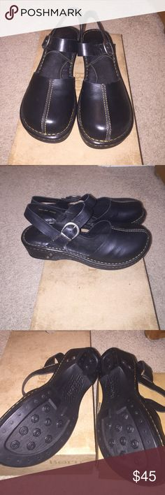 Born Black Leather Clog Sandal New in box, never worn. Size 9. Born Shoes Sandals