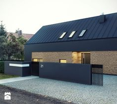 Extraordinary Modern Facade Architecture Ideas - futurian The Effective Pictures We Offer You About facade design A quality picture can tell you many things. You can find the most beautiful picture Modern Barn House, Modern Bungalow House, Modern House Design, Facade Design, Exterior Design, House Cladding, Weekend House, Roof Architecture, House Elevation
