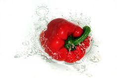#bell pepper #capsicum #closeup #fresh #red #vegetable
