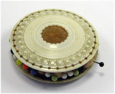 Antique 19th Century Carved Sewing Pin Cushion Wheel £35