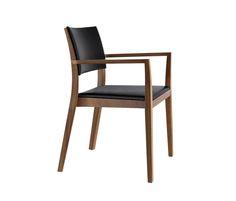 Sessel, Sitz gepolstert, Rücken Formsperrholz, Polster vorne aufgesetzt, Hinterfüsse und Rückenschwinge massiv gebogen, stapelbar, Reihenverbindung..