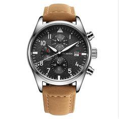 8f8c90ebafc OCHSTIN GQ043B Moda Couro Homens Relógio De Quartzo Luxo Multifuncional  Business Watch Relogio De Pulso Masculino