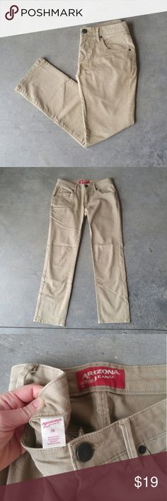 Arizona Jean Co Men's Khaki Pants Arizona Jean Co brand from JC Penney, men's khaki pants, waist size 29, in excellent condition. Style is a straight leg. Front and back pockets. Belt loops. Great for dressing up or down. Please ask any questions. No trades. Make a reasonable offer. Thanks! Arizona Jean Company Pants Chinos & Khakis