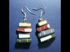 Making a stack of books and turning them in to earrings. If you just want to make the books then you can just watch the first half of the video. A bit of a c...
