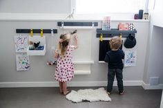 Wall Mounted Art Station for Kids from The Land of Nod