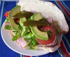 Torta de jamon (Mexican-style ham sandwich) recipe