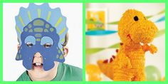 Dinosaur Party Ideas: dino pinata mask
