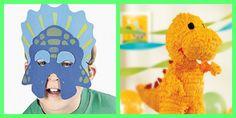 Dinosaur Party Ideas: dino pinata mask