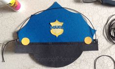 Easy DIY Police Hat for Cops and Robbers Birthday Party : Darien Dot Mom