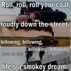 Roll, roll, roll your coal... #trucks #diesel