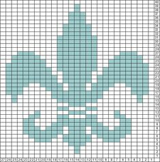 Tricksy Knitter Charts: New Fleur de Lis (68444) (70902) by Natalie