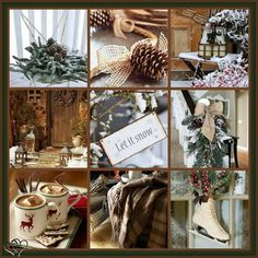 The collages make me so happy ☺️ Christmas Collage, Christmas Mood, Noel Christmas, Merry Little Christmas, Primitive Christmas, Country Christmas, All Things Christmas, Christmas Scenery, I Love Winter