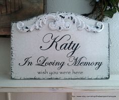 In Loving Memory  Any NAME  MOM  DAD  13 x 9 by thebackporchshoppe