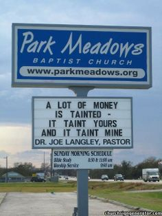 FUNNY CHURCH SIGNS | Townhall | Worldwide Adventist Forums