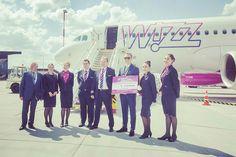 Pierwszy lot na nowej trasie Dortmund - Olsztyn-Mazury - Dortmund już za nami🎉 Na samolot Wizz Air czekał salut wodny #latamzmazur#mazuryairport#mazury#dormumd#loty