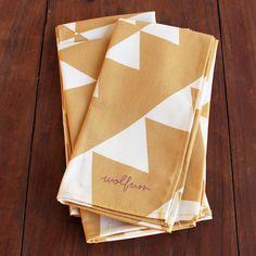 Wolfum Yellow Triangle Napkin