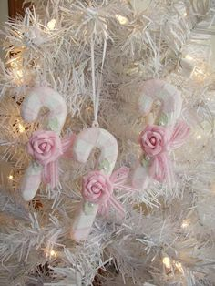 I'm Dreaming of a Pink Christmas...  I wonder what these ornaments are made of?