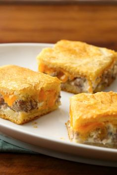 Sausage + 2 cheeses + crescent dough = tasty breakfast or brunch bites!
