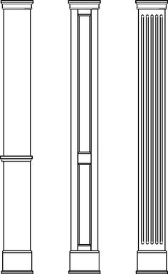 Square Column Gallery: Providers of DIY columns. See us for a column, house decorative column, hplc columns, porch columns, wood columns, pilaster, column caps and bases, mansion columns and  decorative columns.
