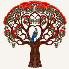 Tui bird in a Pohutakawa tree New Zealand Art, Art Drawings, Drawings, Art, Tree Drawing, Bird Illustration, Beautiful Art, Bird Art, Nz Art