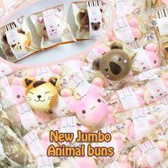 New Puni Maru Jumbo animal super squishy ~ koala, pink kitty and brown cat