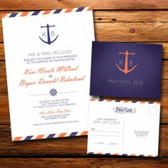 Nautical Wedding Invitations | http://simpleweddingstuff.blogspot.com/2014/03/nautical-wedding-invitations.html