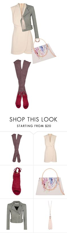 """""""Unbenannt #1166"""" by herzblut1 ❤ liked on Polyvore featuring Free People, Finders Keepers, Aquazzura, Ted Baker, ShoeDazzle, IRO and Oasis"""